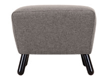 Rubens Footstool, Nickel Grey