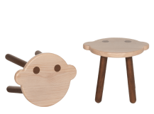 Troop Monkey Stool, Pine