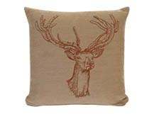 Stag Head Large Scatter Cushion 50 x 50cm, Bronze