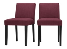2 x Wilton Dining Chairs, Merlot Red