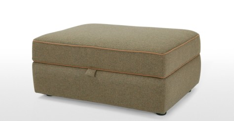 Wolseley Storage Ottoman, Wool Tweed