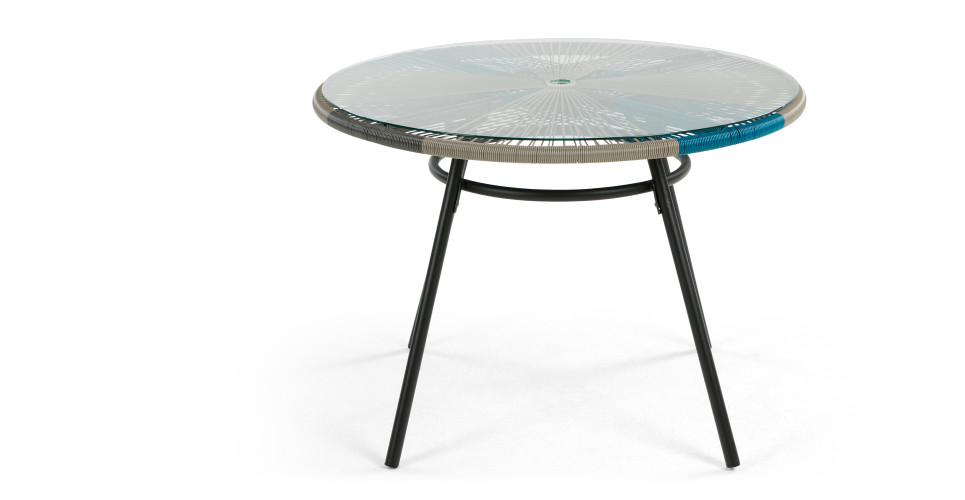 Copa Dining Table Cool Blue