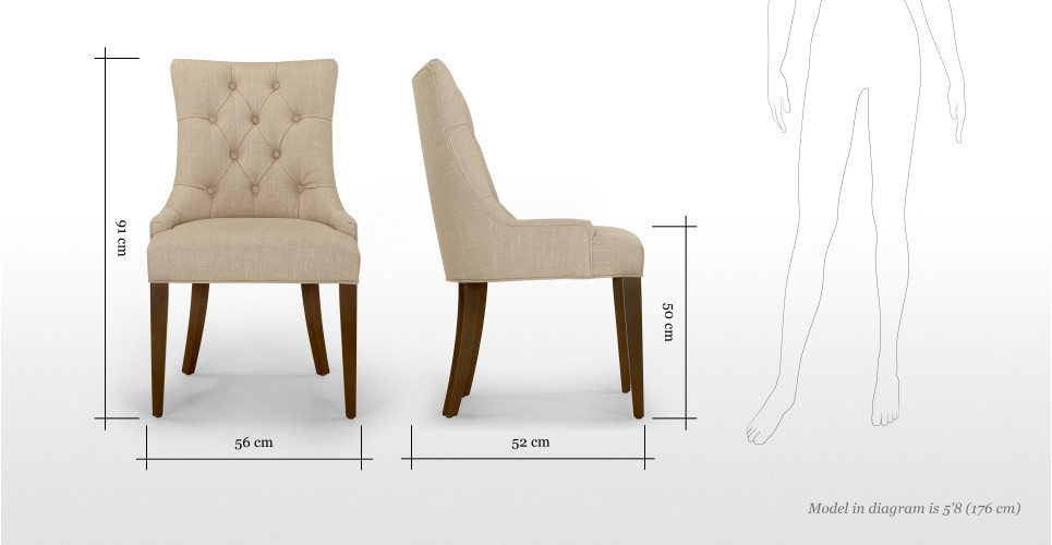 Flynn fauteuil met holle rugleuning in biscuitbeige  made.com
