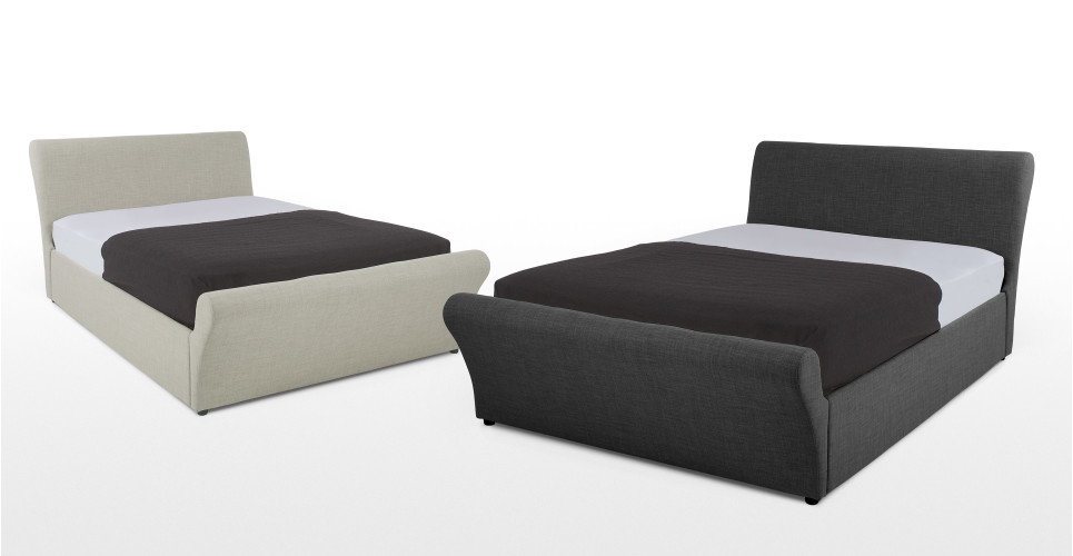 orla 140 x 200cm doppelbett mit stauraum rauchgrau. Black Bedroom Furniture Sets. Home Design Ideas
