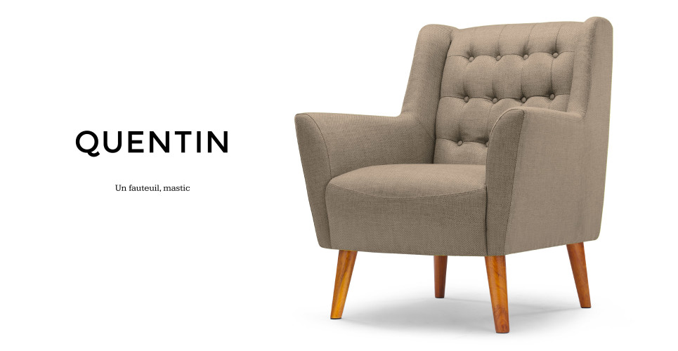 Quentin un fauteuil mastic - Fauteuil made in design ...
