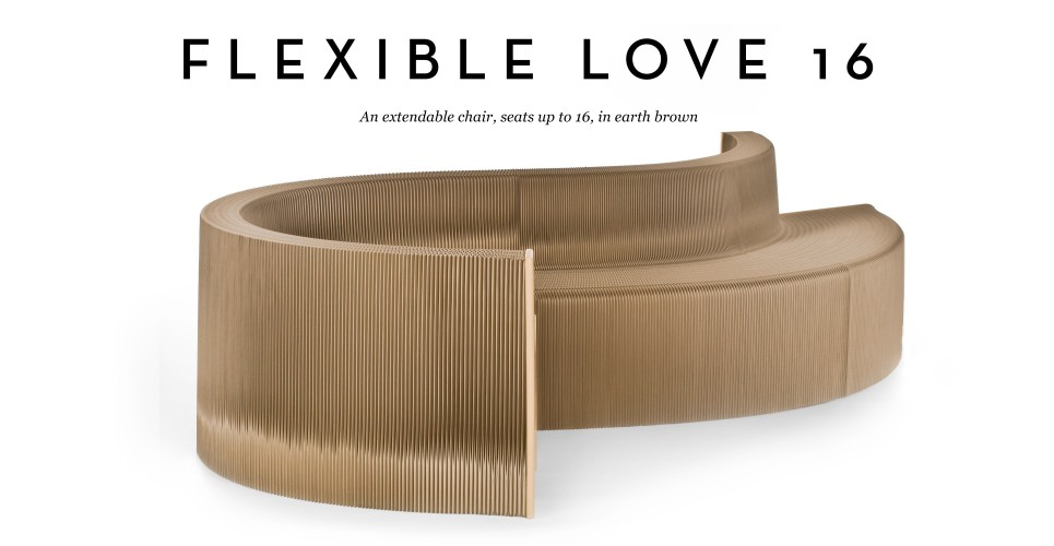 Flexible Love 16 Chair In Earth Brown Madecom