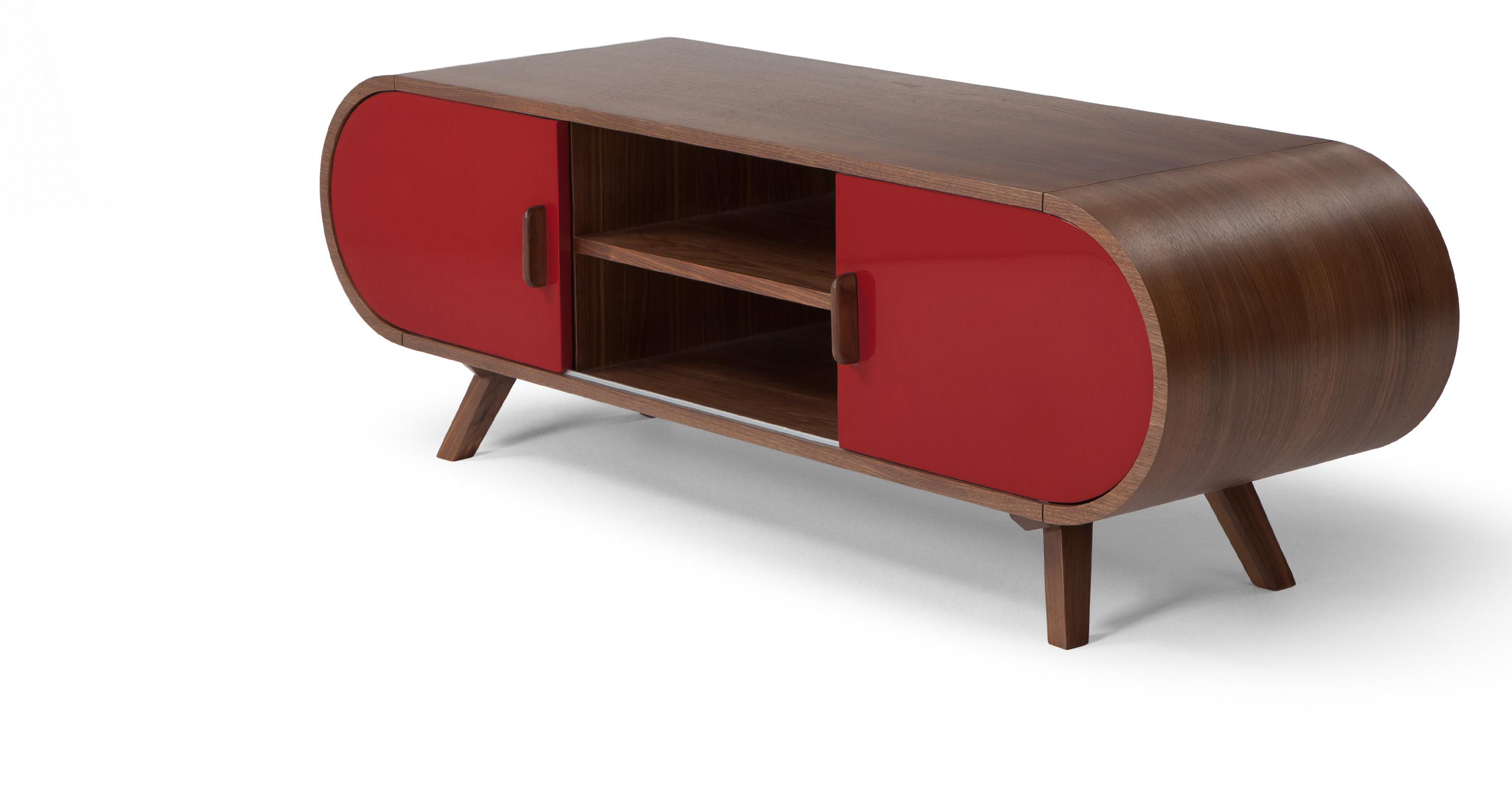 Meuble Tv Design Made Com Meuble Multimedia Meuble T L Rouge  # Meuble Tv Laque Rouge