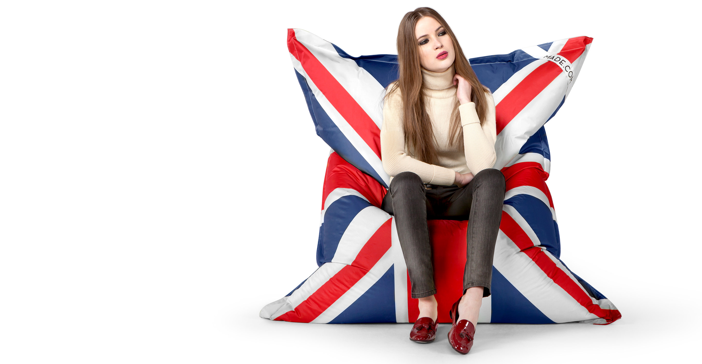 pouf union jack. Black Bedroom Furniture Sets. Home Design Ideas