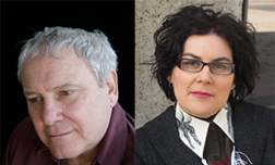 Novelist Frank Moorhouse (left, image credit: Kylie Melinda Smith) and playwright Alana Valentine (right), both have been Museum of Australian Democracy Australian Prime Ministers Centre Fellows.