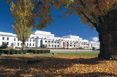 Old Parliament House during autumn.