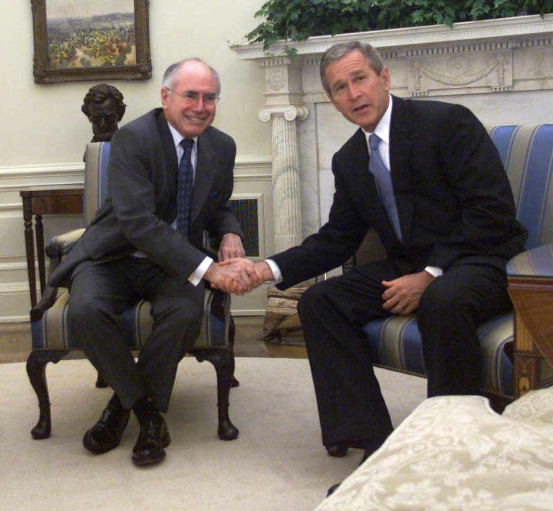 John Howard and George W Bush