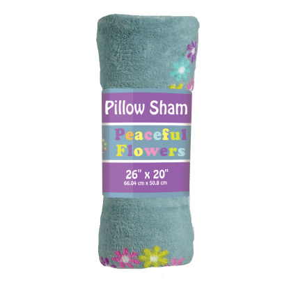 Picture of Peaceful Flowers Plush Sham