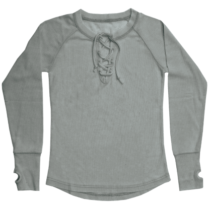 Picture of Gray Lace-Up Thermal Shirt