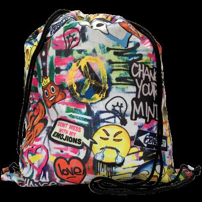 Picture of Emoji Graffiti Drawstring Bag