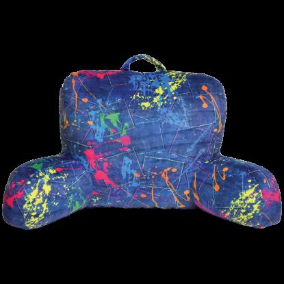 Picture of Paint Splatter Denim Lounge Pillow