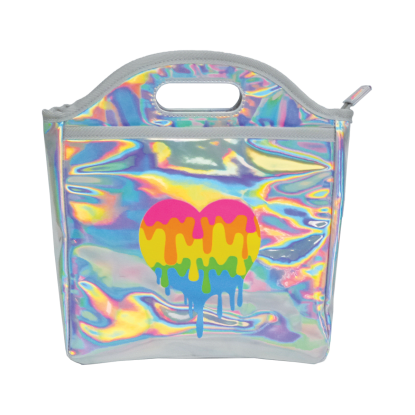 Picture of Dripping Heart Holographic Lunch Tote