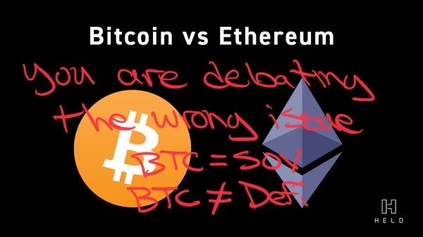 Bitcoin vs Ethereum; Stop the Madness