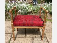 19th century gilt stool
