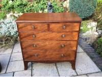 Small mahogany Georgiam chest of drawers