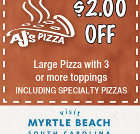 AJ's Pizza - $2 Off Large Pizza with 3 or More Toppings