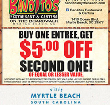 Banditos Restaurant & Cantina - Buy One Entree, Get $5 Off Second One