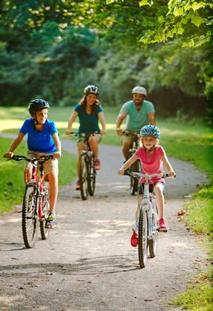 Family Bike Ride - Biking