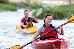 Kayaks on the Susquehanna
