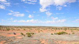 My campsite in the Simpson Desert.