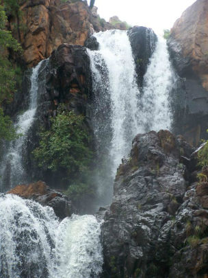 The waterfalls are spectacular in the wet.