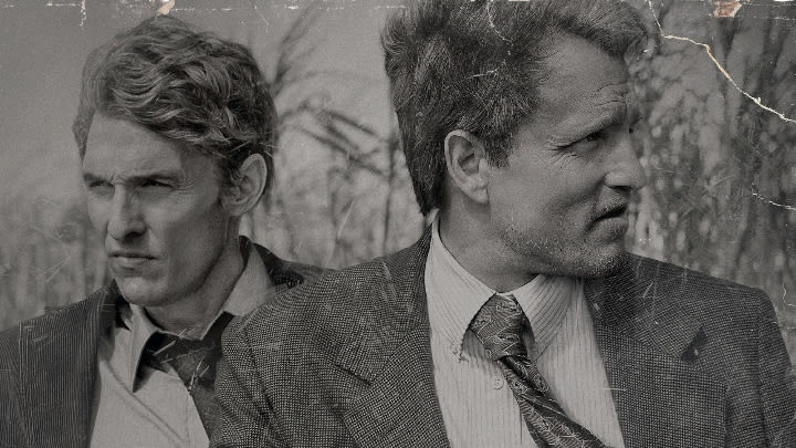 Matthew McConaughey and Woody Harrelson in True Detective Season 1.