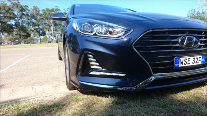 The new look Sonata gets a major facelift.