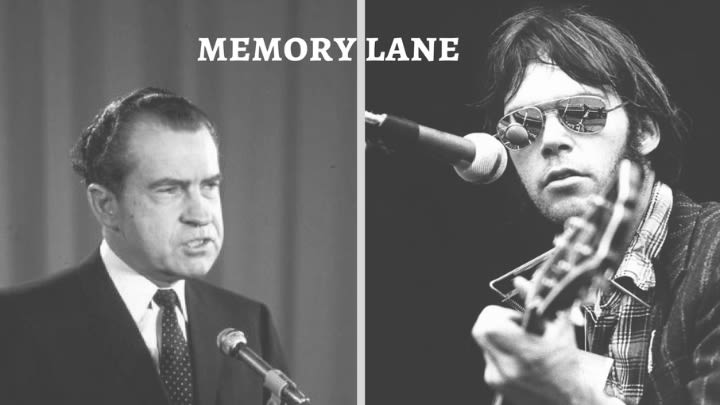 Richard Nixon and Neil Young.