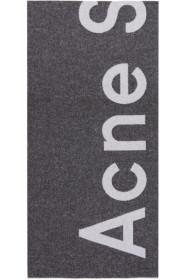 아크네 스튜디오 토론티 로고 스카프 Acne Studios Black Toronty Logo Scarf
