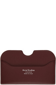 아크네 스튜디오 카드홀더 버건디 Acne Studios Burgundy Elmas Card Holder