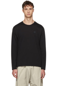 아크네 스튜디오 긴팔 티셔츠 블랙 Acne Studios Black Long Sleeve Nash Face T-Shirt