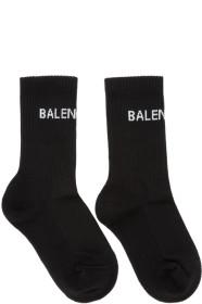 발렌시아가 뉴 로고 테니스 양말 블랙 Balenciaga Black New Logo Tennis Socks