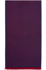 구찌 Gucci Purple & Red Wool GG Scarf
