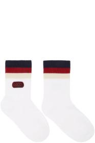 구찌 Gucci White Logo Socks