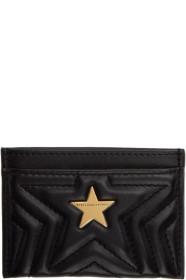 스텔라 맥카트니 Stella McCartney Black Alter-Nappa Star Card Holder