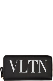 Black 발렌티노 Valentino Garavani VLTN Continental Wallet