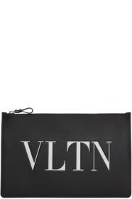 Black 발렌티노 Valentino Garavani VLTN Zip Pouch