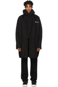 Black Quote Work Coat