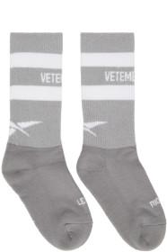 베트멍 Vetements Grey 리복 Reebok Edition Reflective Socks