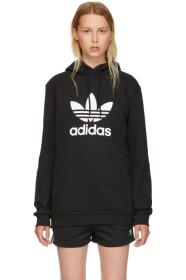 아디다스 Adidas Black Warm-Up Hoodie