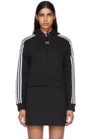 아디다스 Adidas Black Cropped Hoodie