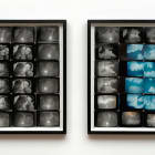 Ellen Cantor, Starry night / cloudy day, 1995, photo collage, diptych, framed, 27 x 26 1/2 in. each, unique, EC_FP3563