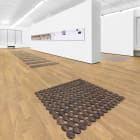 Michael Wang, World Trade, 2017, installation view, Foxy Production, New York
