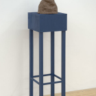 Simone Gilges, Earth, 2009, ceramic, shellac, wood, acrylic, 61 x 15 x 15 in. (155 x 38.1 x 38.1 cm.,) SG_FP1447