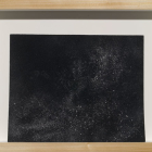 Hany Armanious, Wall Rubbing, 2007, clogged sandpaper, 12.2 x 16 in. / 31 x 40.5 cm. (framed dimensions.) HA_FP1020