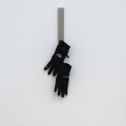 Artie Vierkant, Magnetic strip, Touchscreen-Assistive Gloves (possible object), 2012, IKEAS Grundtal, North Face Etip Eloves, 22 x 1 3/8 in.